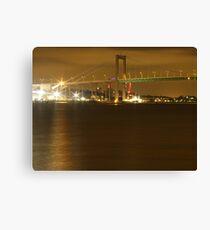 Gothenburg by night - The hisingen bridge Canvas Print
