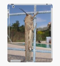 Locust On A Wire Fence iPad Case/Skin