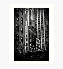 black n'white, blocks n'boxes.... Art Print