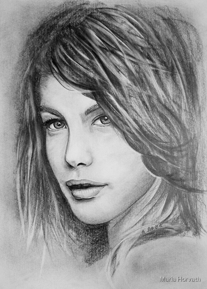 Portrait of a girl by Maria Horvath