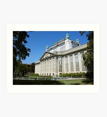 Croatian State Archive Building in Zagreb Art Print