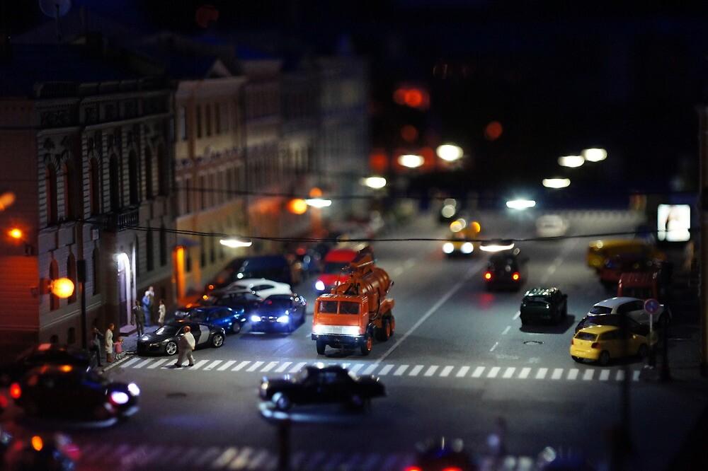 crosswalk at night by mrivserg