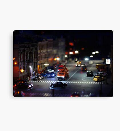 crosswalk at night Canvas Print