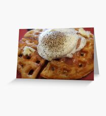 waffles and eggs for sarnia2 Greeting Card
