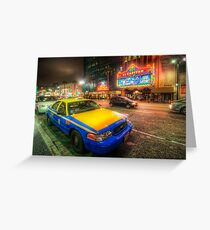 Hollywood Taxi Greeting Card