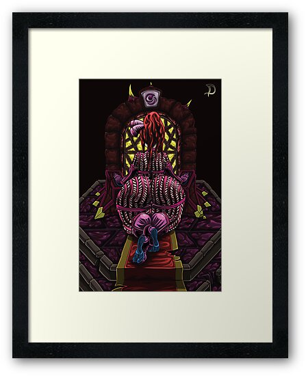 Demonic altar magenta coloring by daniel gray
