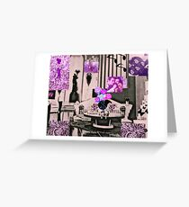 Black and Pink Romance Greeting Card