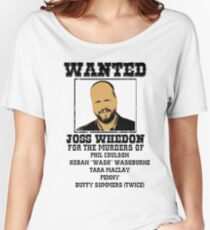 Joss Whedon: wanted Women's Relaxed Fit T-Shirt
