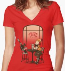 Date Night Women's Fitted V-Neck T-Shirt