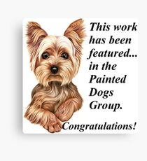 Painted Dogs Group 'featured' banner Canvas Print