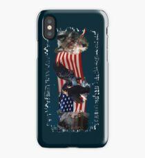 Eagles, Bear, Wolf, American Flag US Patriotic iPhone Case/Skin