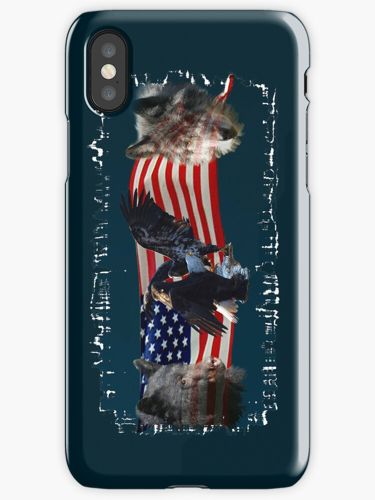 Eagles, Bear, Wolf, American Flag US Patriotic by NaturePrints
