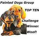 Painted Dogs Top Ten banner No.2 by Margaret Sanderson