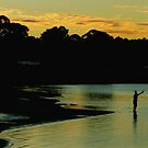 Sunset Fisherman by jlv-
