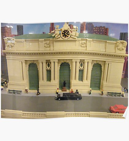Lego Grand Central Terminal, Grand Central Station, New York City Poster