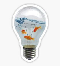 ideas and goldfish Sticker