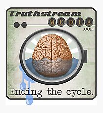 """Truthstream Media """"End Cycle"""" Logo Photographic Print"""