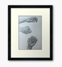 My Hand Framed Print