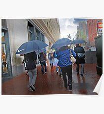 San Francisco in the Rain Poster