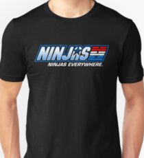 Ninjas. Ninjas EVERYWHERE. Unisex T-Shirt