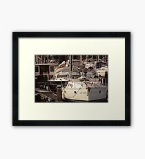 The Recreational Harbor I Framed Print