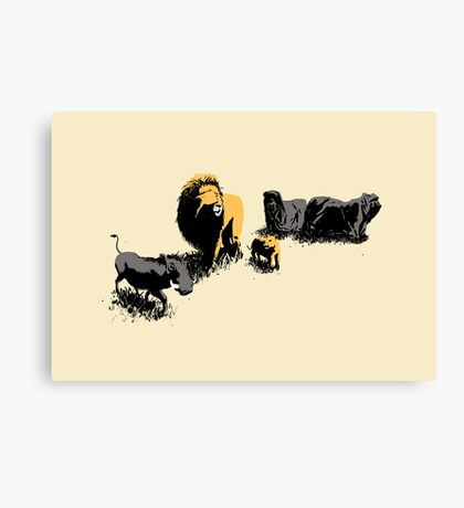 Muslim Lions Canvas Print