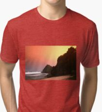 Colorful sunset  Tri-blend T-Shirt