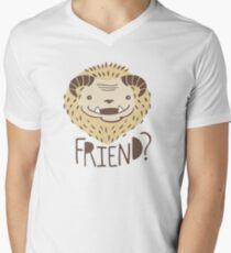 Friendly Beast Men's V-Neck T-Shirt