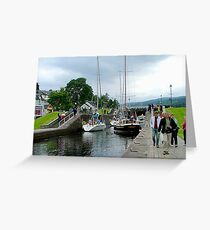 Fort Augustus Locks, Southern end Loch Ness, Scotland. Greeting Card