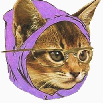 Hipster Cat by adamrwhite