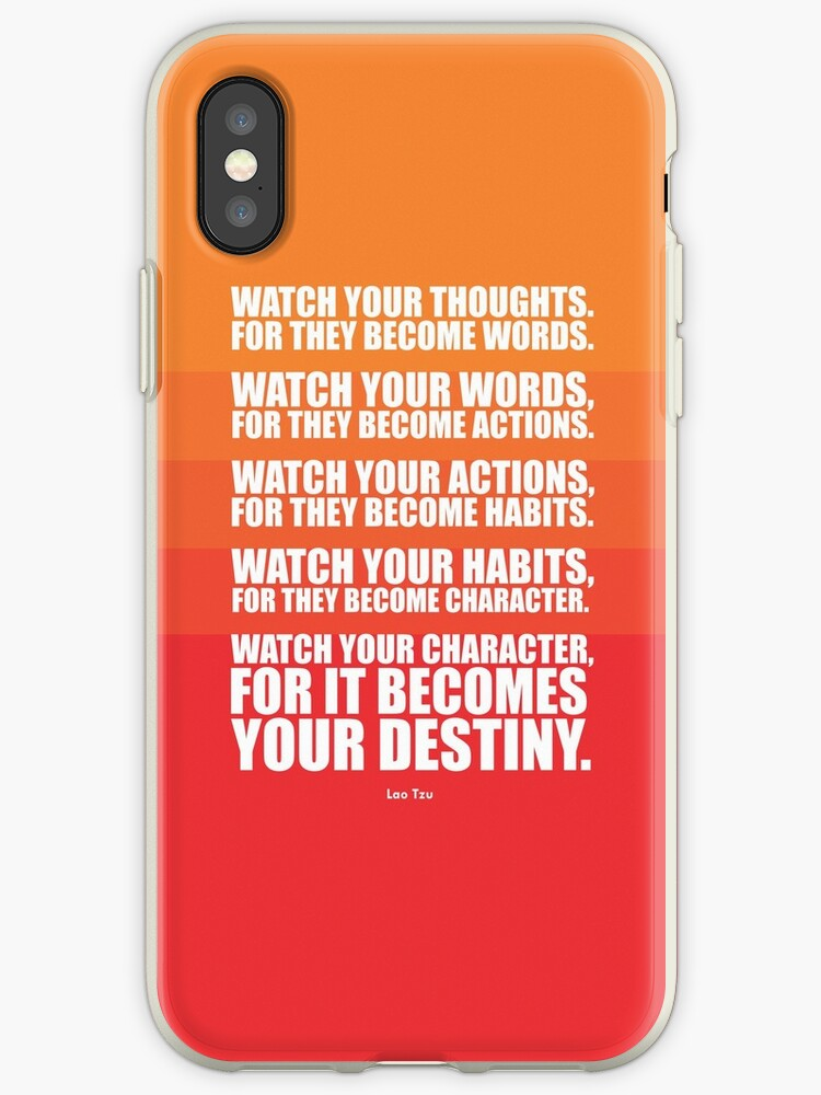 'Watch Your Thoughts for they Become Words    - Lao Tzu' iPhone Case by  Labno4