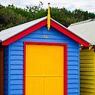 Primary Colours - Brighton Beach Boxes - Australia by Norman Repacholi