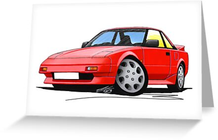 Toyota MR2 (Mk1) Red by yeomanscarart