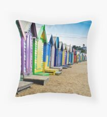 Location, Location, Location - Brighton Beach Boxes - Australia Throw Pillow