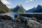 Mitre Peak, Milford Sound. by Michael Treloar