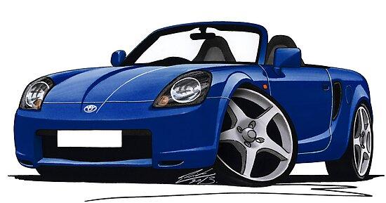 Toyota MR2 (Mk3) Blue by yeomanscarart