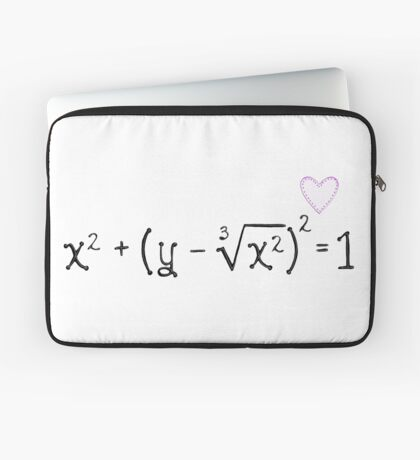 Math heart (white) Laptop Sleeve