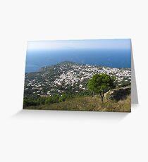 Anacapri Monte Solaro View Greeting Card