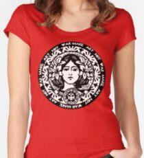 MAKE ART NOT WAR Women's Fitted Scoop T-Shirt