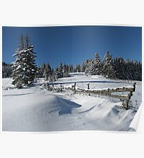 Snowy Winter Scene Poster