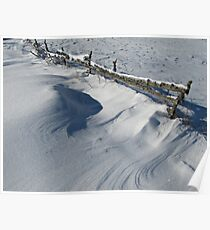 Snowy Winter Scene Detail Poster