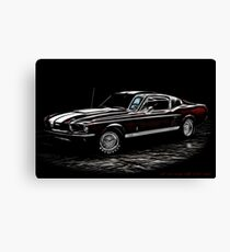Lienzo 1967 Ford Mustang Shelby 350 Fastback