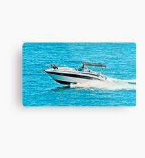 boat on the lago maggiore (002) Metal Print