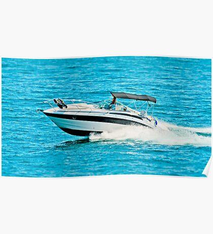 boat on the lago maggiore (002) Poster