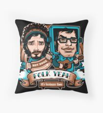 Folk Yeah! Throw Pillow