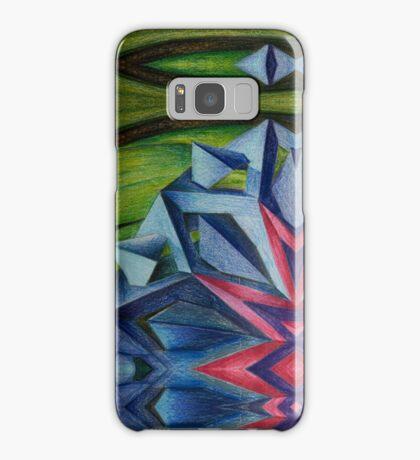 Abstract Geometric Flower Samsung Galaxy Case/Skin