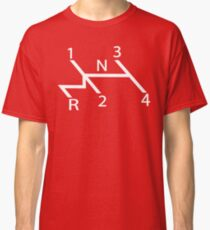 old school shift diagram in white.  Classic T-Shirt