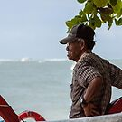 Elderly Man, Sanur Beach, Bali by Vince Russell