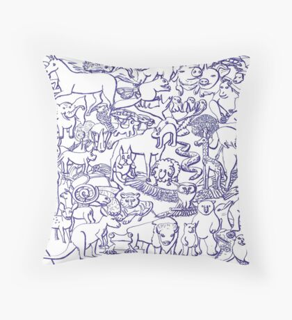 World Wildlife Throw Pillow