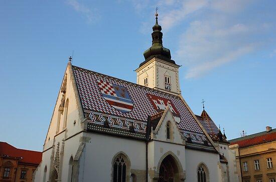 Saint Mark's Church in Zagreb Croatia by kirilart